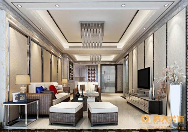 领航城四室两厅现代简约设计风格效果图
