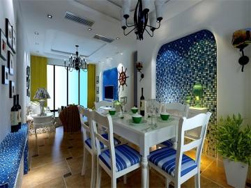 三室两厅地中海设计效果图