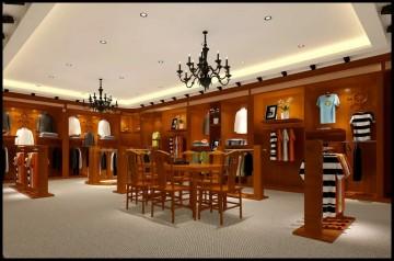 中式風格服裝展廳設計案例