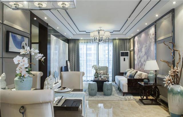 泰丰观湖三室两厅中式风格设计效果图