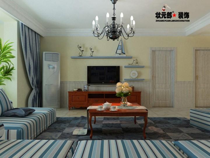 三居室地中海风格设计效果图