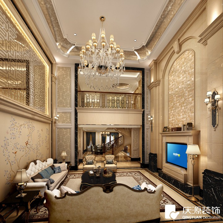 御龙居新中式别墅风格设计效果图