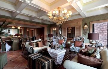 新中式别墅风格设计效果图