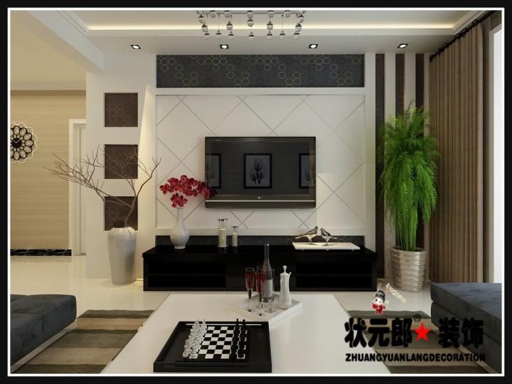 天州沁园现代简约二居室装修设计效果图