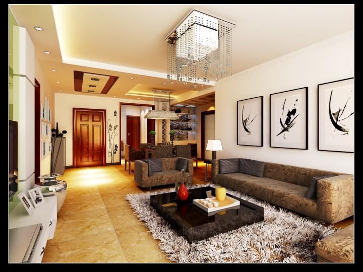 三居室现代简约设计效果图欣赏
