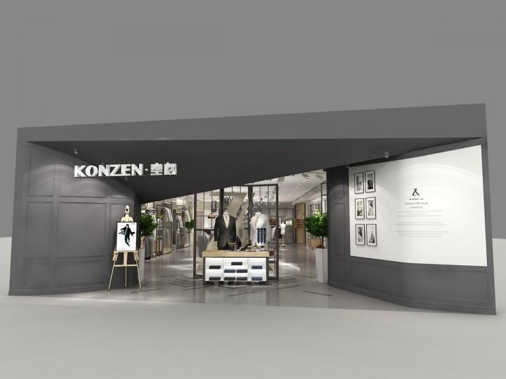 konzen男装专卖店装修设计效果图