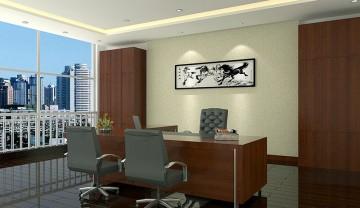天印办公设备公司办公室装修案例1