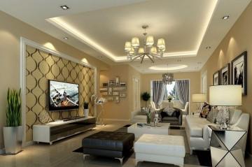 三居室溫馨現代風格設計效果圖
