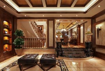 美式古典别墅装修设计效果图