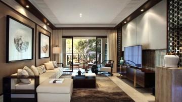 四居室家装中式风格设计效果图