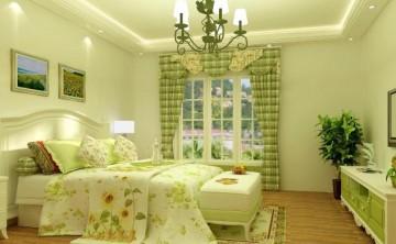 海景蓝湾两居室田园风格卧室效果图