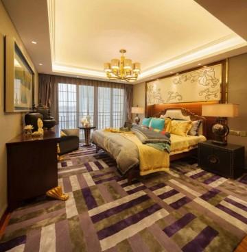 南湖國際三居室東南亞風格設計效果圖