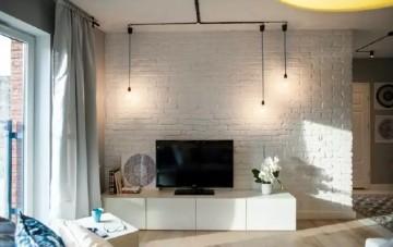 两居室现代北欧混搭风格设计效果图