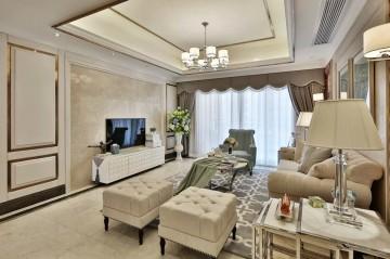 中海金沙府三居室欧式风格设计效果图
