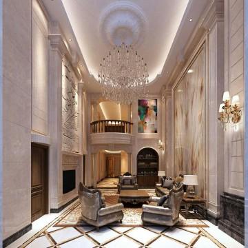 欧式奢华的复式格局设计效果图