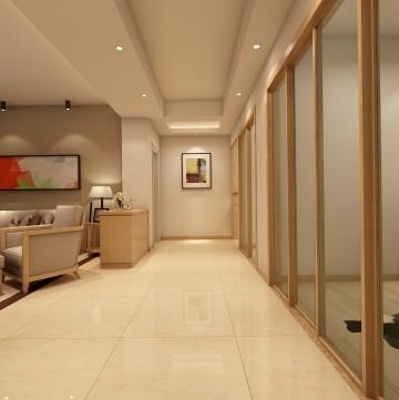 中央海岸三室兩廳現代簡約風格設計效果圖