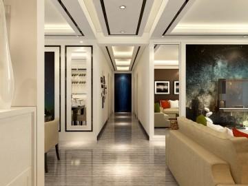 璀璨星空四居室现代风格设计效果图