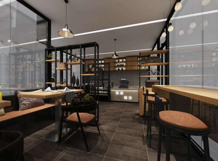 发呆地方餐饮休闲装修设计效果图
