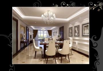 三室两厅欧式风格设计效果图欣赏
