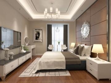 三居室純正現代風格設計效果圖