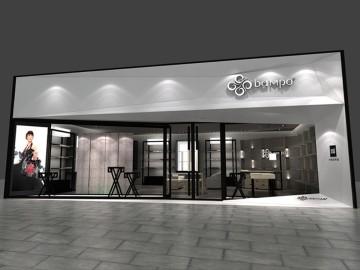广州东风西路bampo半坡女包专卖店设计效果图
