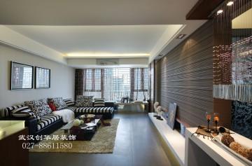 東方明珠三室兩廳現代風格設計效果圖欣賞