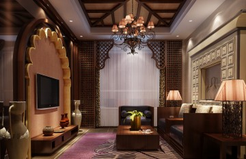 豪华复式东南亚风格风格设计效果图