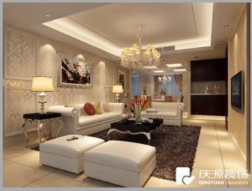 紫金花園復式樓層現代風格設計效果圖案例欣賞