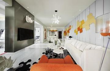 中南红领邦两居室小户型现代风格设计效果图