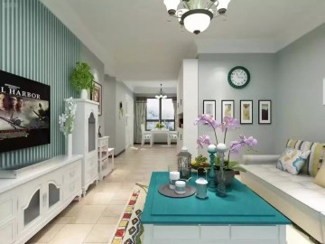 3居室清新田园风格设计效果图