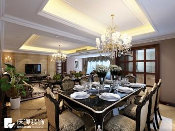 外滩首府三居室家装欧式风格设计效果图欣赏