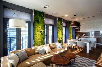 四居室家装绿植现代风格设计效果图