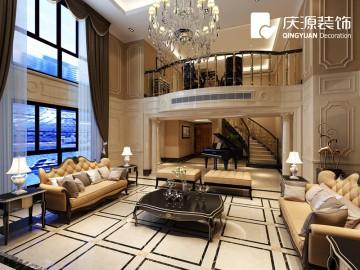 国际公馆复式楼层欧式风格设计效果图案例欣赏