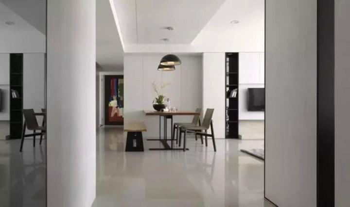 恒安小区132平三居室家装现代风格设计效果图