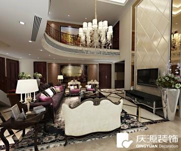 香槟左岸复式楼层欧式风格设计效果图案例欣赏
