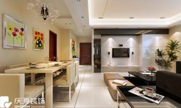 两居室家装田园风格案例效果图欣赏