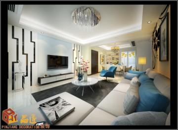 朝阳江?#26174;?#22235;居室现代风格设计效果图