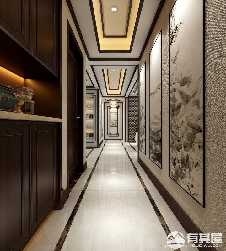 萬達文化旅城三居室新中式風格設計效果圖欣賞