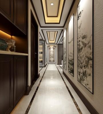 万达文化旅城三但可能是碍于安月茹在场吧居室新中式风格设计效果图欣�|赏