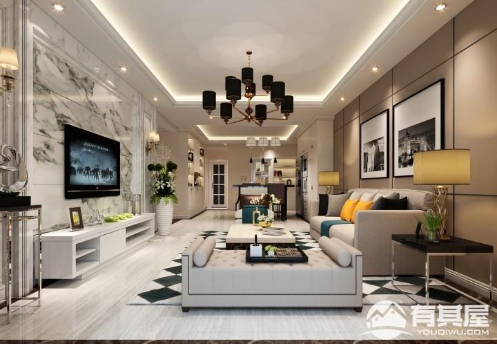 佳源巴黎都市两居室现代风格设计效果图