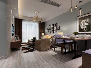 佳源巴黎都市兩居室小戶型現代風格設計效果圖欣賞