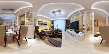 文一名門南郡三居室現代簡約風格設計效果圖欣賞