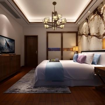 蒙城别墅新中式风格设计效果图欣赏