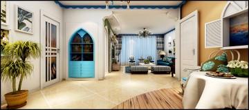 三室两厅地中海风格案例效果图欣赏