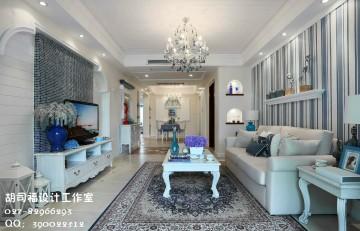 海赋江城地中海两居室风格设计效果图案例欣赏