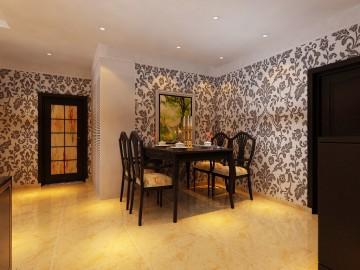 阿尔卡迪亚两居室小户型中式风格设计效果图