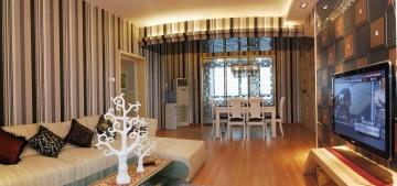 武汉清洋六和两居室小户型现代简看著澹�_��明约风@ 格装修效果图