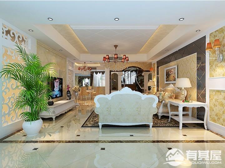 平安象湖风情四室两厅欧式风格效果图案列赏析