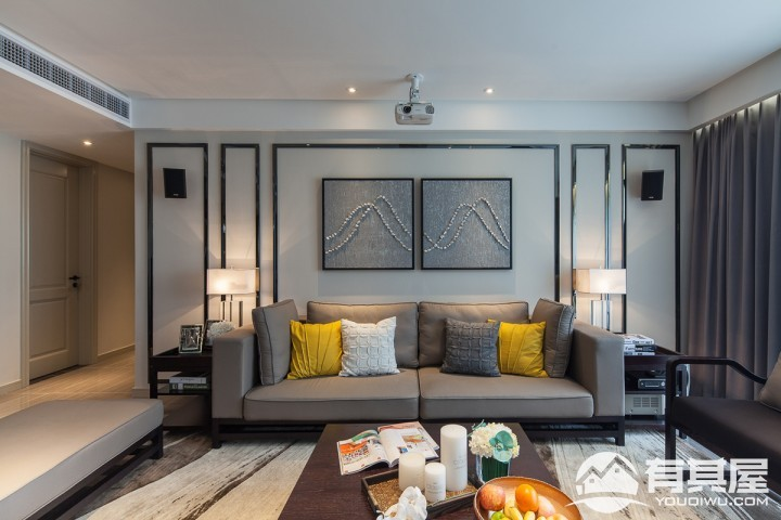 御城三室两厅混搭风格设计效果图案例欣赏