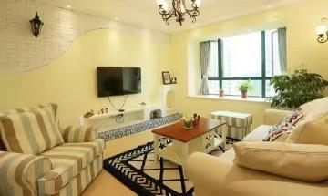 98平三室两厅地中海混搭风格设计效果图